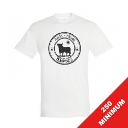 Tee-shirt blanc agence manches courtes