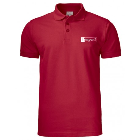Polo homme rouge brodé coeur